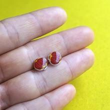 New Fashion Stud Earrings Jewelry 100% Handmade Red Lantern Pattern Elegant Silver Earrings Chinese Style For Women Accessories
