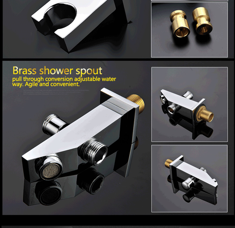 Luxury Shower Set Accessories Ceiling Multifunction Led Strip Shower Head Set with Rainfall Waterfall Spray Mist Water Column (28)
