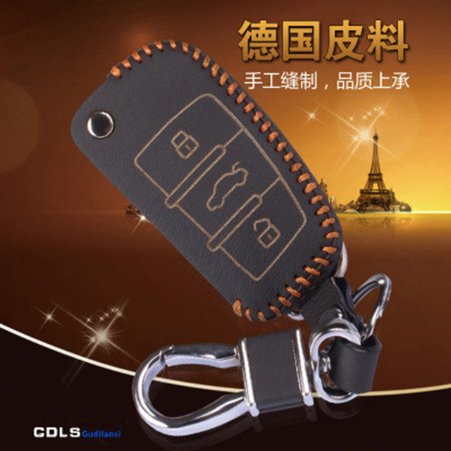Leather Car Key Case Cover For Audi A1 A2 A3 A4 A5 A6 A7 A8 Q3 Q5 Q7 R8 Tt Leather Wallet Keychain For Audi Key Holder Wallet