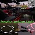 Para SEAT Exeo 2008 ~ 2014 Car Interior Painel de Luz Ambiente de iluminação Para O Carro Interior Fresco Tira Reequipamento Luz Óptica fibra de Banda