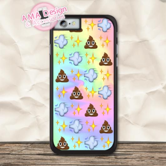 Many Emoji Poop On Tie Dye Cover Case For iPhone X 8 7 6 6s Plus 5 5s SE 5c 4 4s For iPod Touch