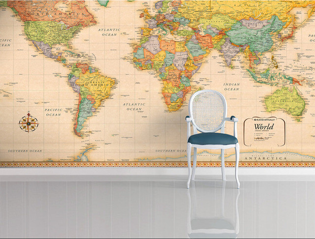 World Map Retro Wallpaper. Custom papel DE parede infantil retro world map for the sitting room  bedroom children background wall waterproof wallpaper Online Shop