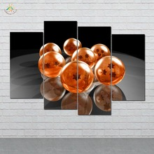 Anime Dragon Ball  Wall Art HD Prints Canvas Painting Modular Picture And Poster Decoration Home 4 PIECES