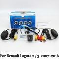 Cámara de Visión trasera Para Renault Laguna 2/3 2007 ~ 2015/Por Cable o Conector RCA Inalámbrica Visión Nocturna del CCD/Lente Gran Angular Cámara