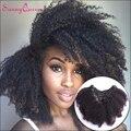 7А Камбоджийский Афро Странный Вьющиеся Клип В Наращивание Волос Человека зажим В Волосах Наращивание Волос Клип Ins Волосы Солнечный Королева продукты