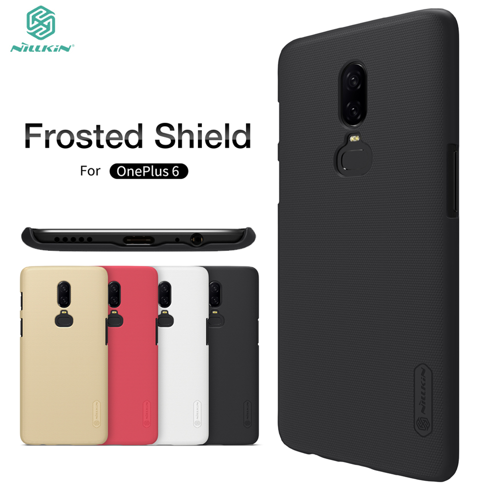 OnePlus 6 Case OnePlus 6 Matte Cover Nillkin Frosted Shield Back Cover Case For OnePlus 6