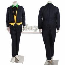 Cosplaydiy Arkham Asylum Joker Cosplay Costume Black Version For Adult Men Halloween Outfits Custom Made