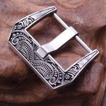 Retro Watch Buckle 18mm 20mm 22mm Watchbands Strap 316L Stainless Steel Brushed Screw in Pin Clasp Accessories For Panerai
