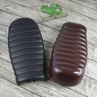 520MM Soft Vintage Motorcycle Seat Black Stripe Cafe Racer Motorcycle Cushion For CG125