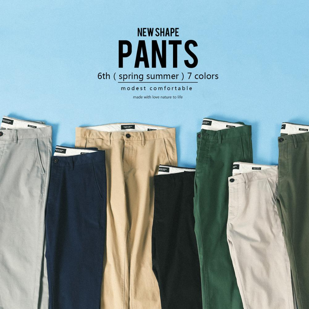 SIMWOOD Trousers Male Clothing Casual Pants Slim-Fit Chinos Autumn Plus-Size Men Cotton