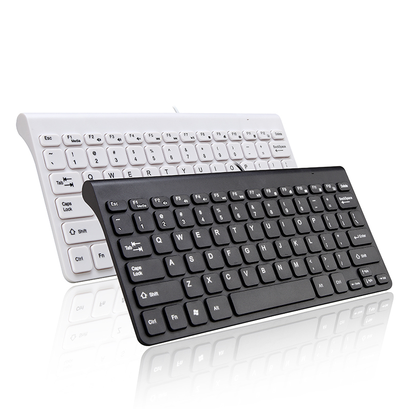 PARASOLANT Black White Wired USB Mouse And Keyboard Set Universal 78 Keys Office Keyboard Mouse Combos For Computer Notebook