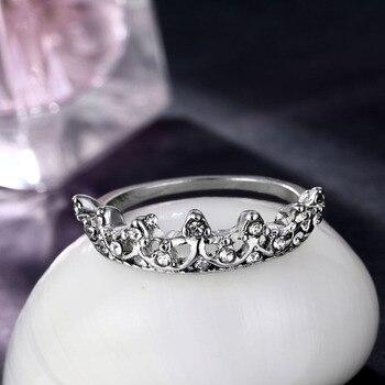 Bague femme couronne