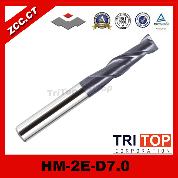 ZCC.CT HM/HMX-2E-D7.0 High hardness and high wear-resistant solid carbide 2 flute end mills zcc ct hm hmx 2e d7 0 high hardness and high wear resistant solid carbide 2 flute end mills