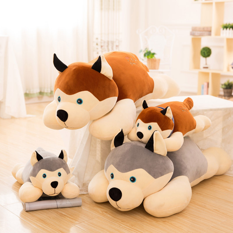 Peluche husky chien, cadeaux de noël, cadeaux d'anniversaire, poupée d'oreiller, envoyer des femmes, cadeaux de vacances