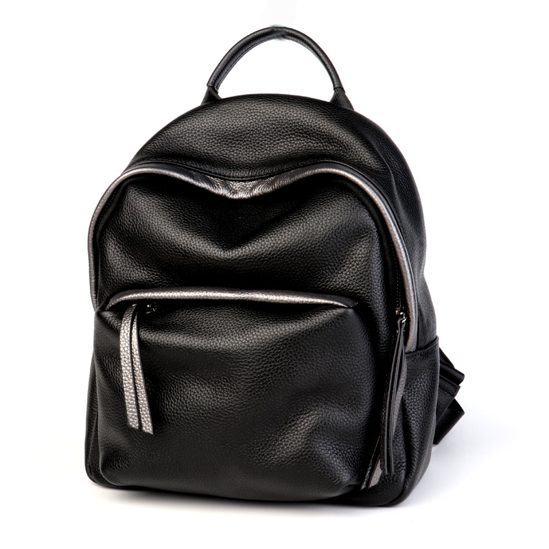 Lisse Fashion Simple Genuine Leather Backpack Women Bags Preppy Style Backpack Girls School Bags Zipper Kanken Leather Backpack fashion women real leather backpack mochila lady genuine leather backpacks preppy style leather school bag kanken backpack