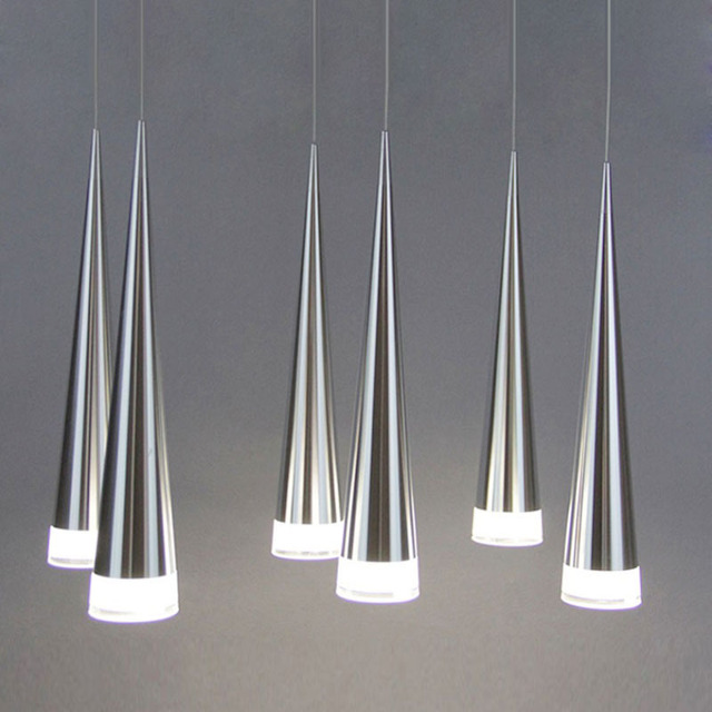 Modern led Conical pendant light Aluminum&metal home/Industrial lighting hang lamp dining/living room bar cafe droplight fixture