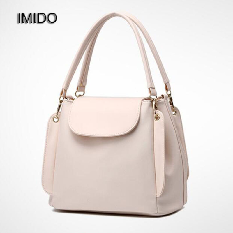 цена на IMIDO Hot Wholesale Price Women Handbags Leather Shoulder Bag Retro Totes Daily bags for ladies Pink Beige Blue Red Black HDG005