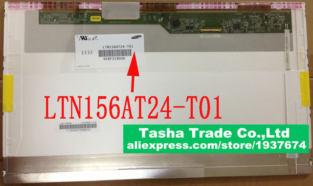LTN156AT24-T01 1366*768 HD LED Display Laptop LCD Screen LTN156AT24 T01 LVDS 40pin