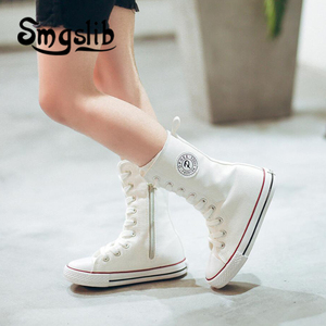 Image 5 - Kids Shoes Girls Children High Canvas Sneaker Shoes Boy Trainers Toddler Teenager Classic Casual Shoes 2018 Spring Autumn
