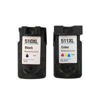 2PCS PG510 CL511 ink cartridge for Canon Pixma IP2700 MP240 MP250 MP260 MP270 MP280 MP480 MP490 with full ink on high quality