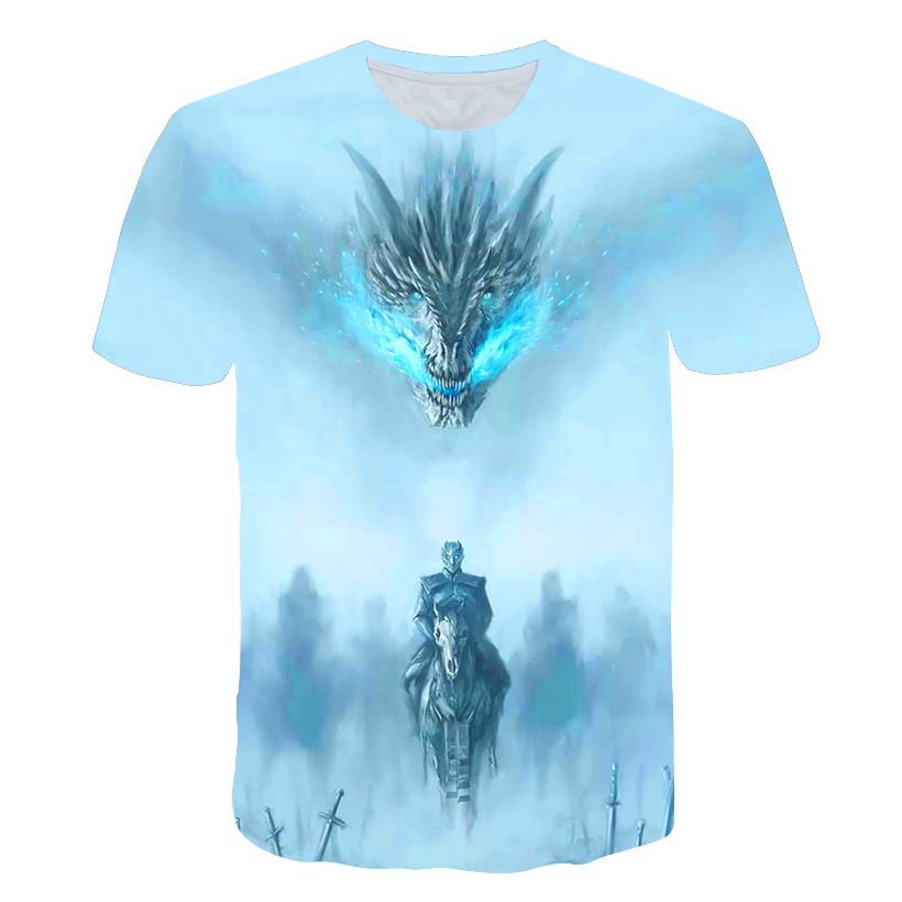 2019 The New   t     shirts   Summer men 3D print game of thrones   t     shirt   fashion high brand Tshirt men game of thrones tshirt