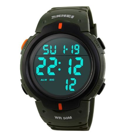 SKMEI мужские спортивные часы для активного образа жизни беговые большие цифровые часы хронограф 50 м водонепроницаемые часы - 2