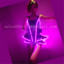 Hot Sale LED Evening Dress Women Costume Clothing Luminous Carnival Sexy Suit Growing Dance Wear Free Shipping