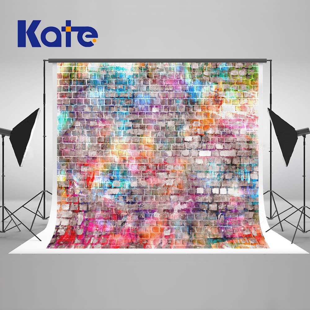 Kate 10x10ft Graffiti Brick Wall Background Photography Seamless Backdrops Backgrounds For Photo Studio Brick Wall Backdrop