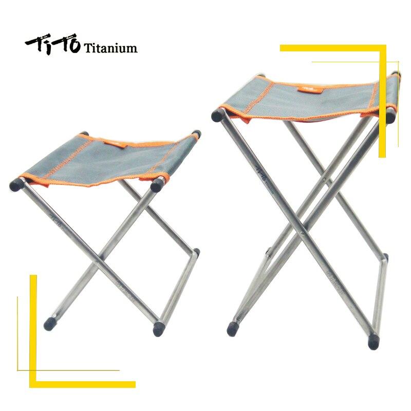 Тито Титан складной стул кемпинг стул открытый для пикника и Пеший Туризм Портативный табурет складной стул ultra Light 185 г
