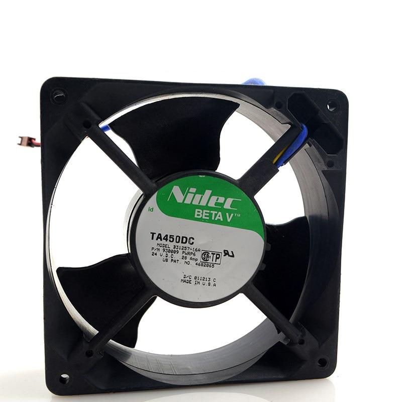 Original Nidec B31257 16A 120x120x38mm 120mm DC 24V 0 28A server inverter axial cooling fan