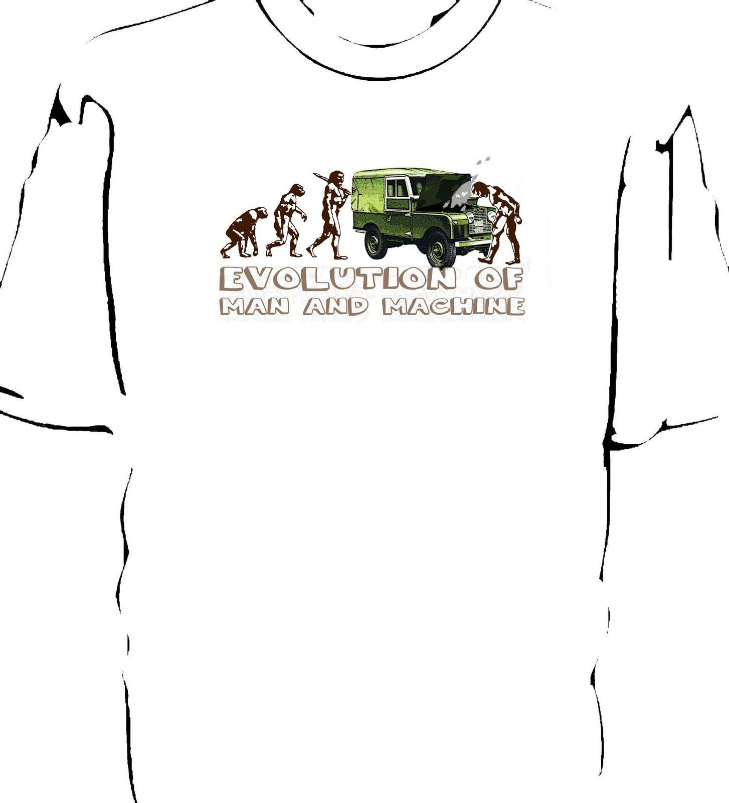Land Rover series 1 Evolution of Man breakdown t-shirt