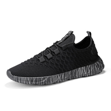 2019 New Breathable Comfortable Mesh Men Shoes Casual Lightweight Walking Male Sneakers Fashion Lace Up Footwear 2018 mens trainers baskets homme new men shoes fashion sneakers walking man casual shoes mesh comfortable male footwear