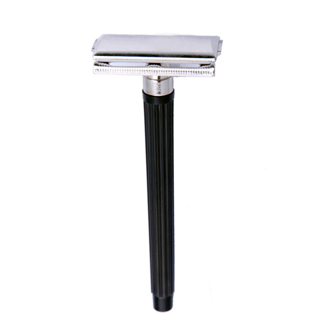 Traditional Men Hand Double Edge Safety Razor Classic Stainless Steel Shaving Hair Blade Razor Manual  #M02363 1