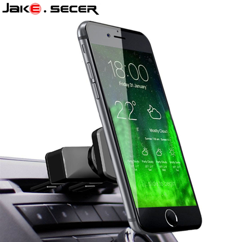 Universal magnetic car phone CD holder for mobile phone