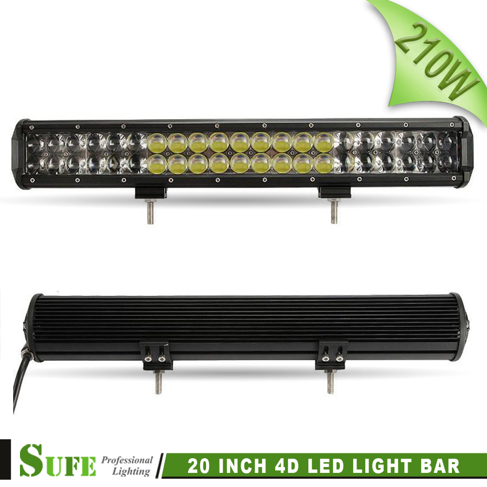 ФОТО 2016 New Arrival 20 Inch 210W 4D LED Light Bar Work Lamp For Offroad 4x4 Wagon Suv Trucks Atv Car 4WD Combo Beam Driving Lights