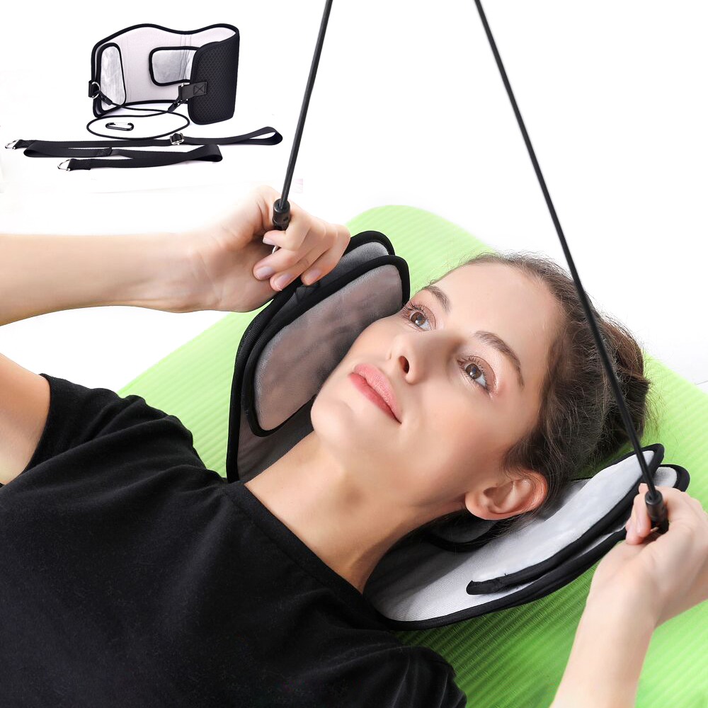 Health Care Neck Brace Headache Back Shoulder Pain Relief Hammock Cervical Neck Traction Device Neck Muscle Massage Stretcher health care pp plastic cervical neck traction for headache back shoulder neck pain traction collar