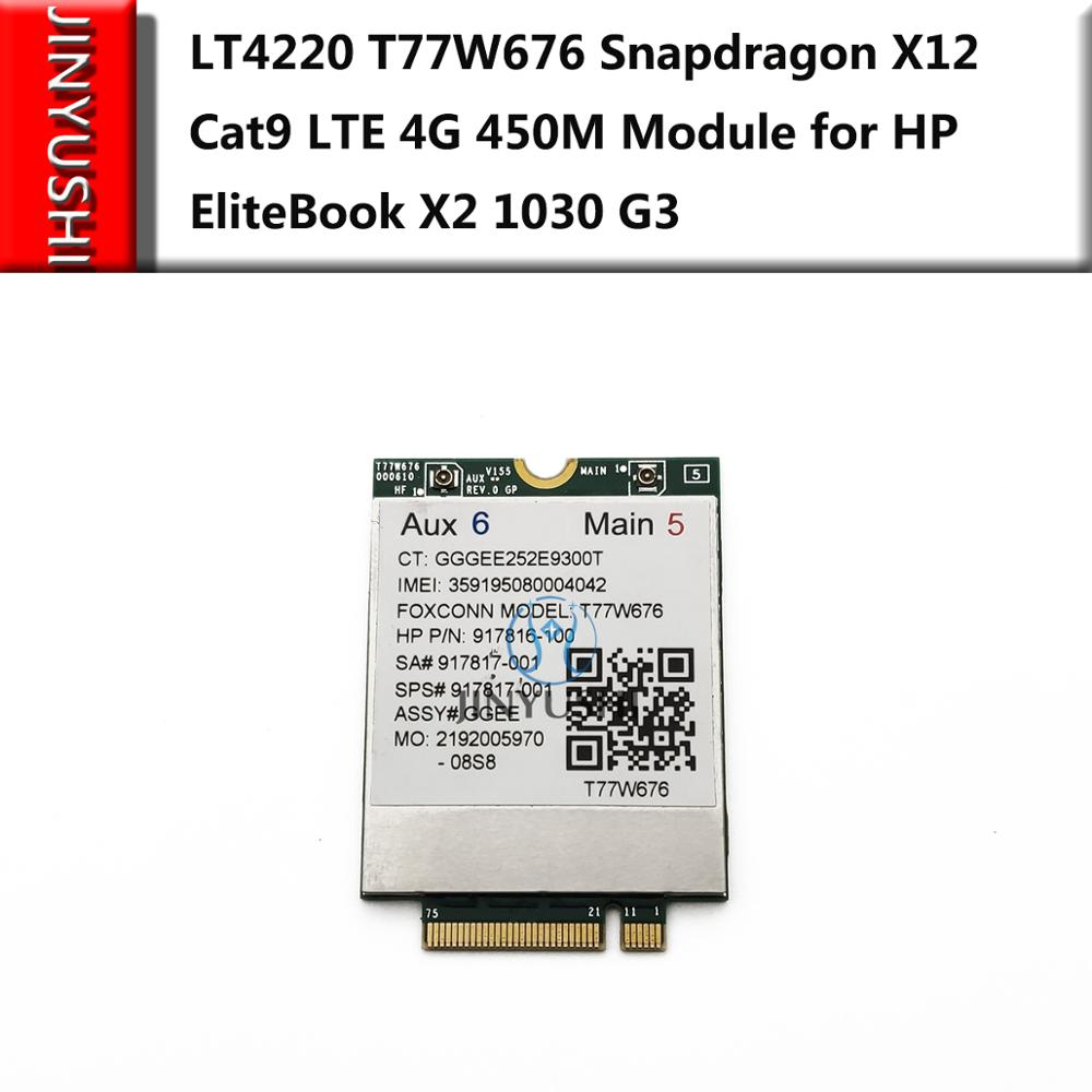 LT4220 T77W676 Snapdragon X12 Cat9 LTE 4G 450M Module for HP EliteBook X2 1030 G3 in