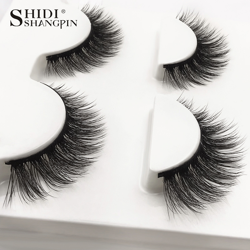 HTB1V4toXLjsK1Rjy1Xaq6zispXaE SHIDISHANGPIN 3 pairs mink eyelashes natural fake eye lashes make up handmade 3d mink lashes false lash volume eyelash extension