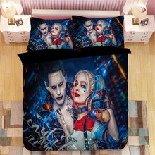 Suicide Squad Harley Quinn 3D bedding set Duvet Covers Pillowcases Deadpool Joker comforter bedding sets bedclothes bed linen(China)