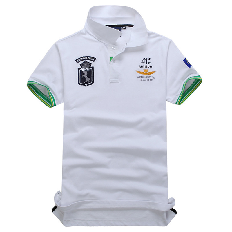 summer new men's boutique embroidery breathable 100% cotton   polo   shirt lapel Men's Air Force One   polo   shirt size M-3XL