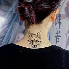 Waterproof Temporary Tattoo Sticker Animal Wolf Lion Eagle Tatto Flash Tatoo Hand Wrist Foot Arm Neck Fake Tattoos For Men Women