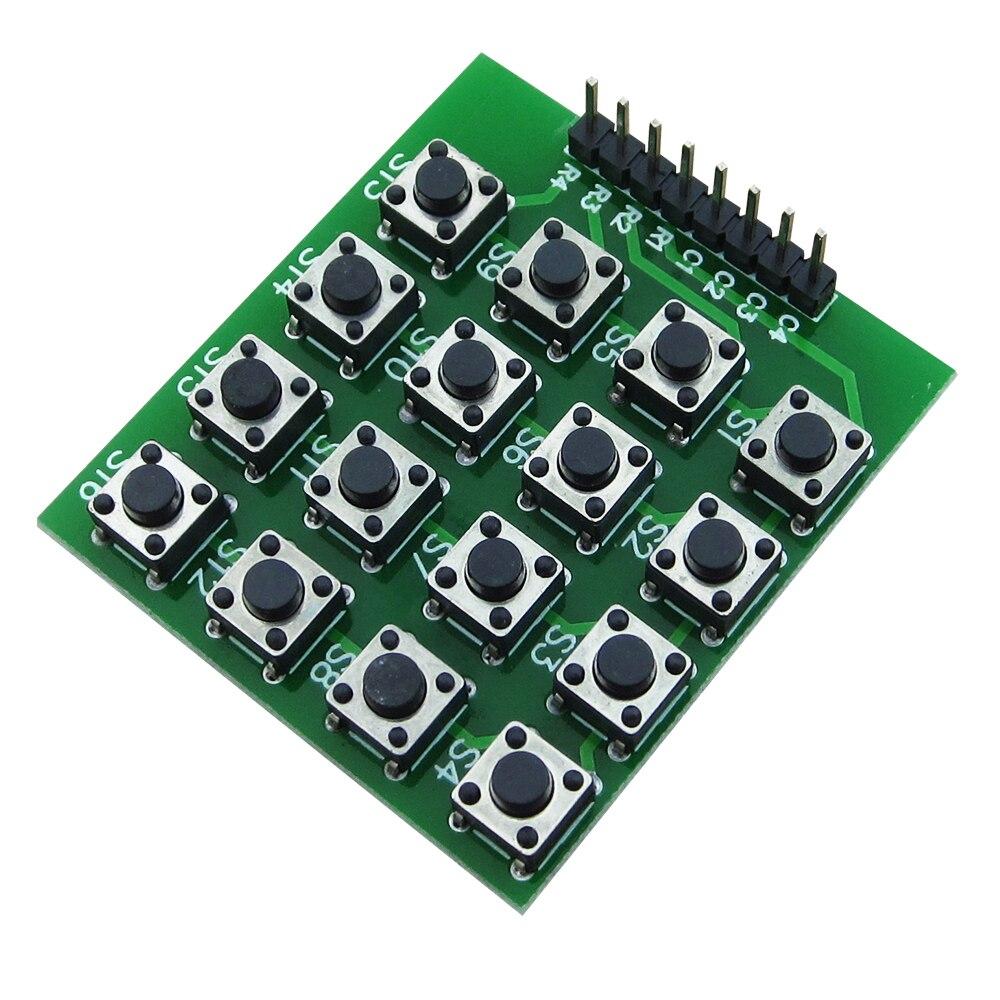 HAILANGNIAO 8pin 4*4 4x4 Matrix 16 Keypad Keyboard Breadboard Module 16 Button Mcu