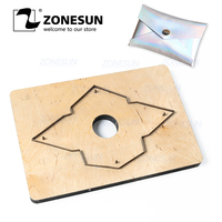 ZONESUN D4 Custom Leather Coin Purse Cutting Die Cutter Clicker Steel Rule Die Leather Pucnhing Tool For Die Cutting Machine