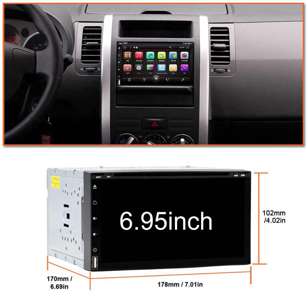 Eunavi オクタコア 2 ディンアンドロイド 9.0 カー dvd マルチメディアプレーヤーユニバーサル 2din GPS ナビオーディオステレオラジオヘッドユニット IPS スクリーン wifi