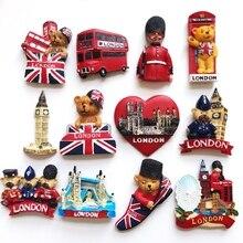 (5 pieces a lot)World Travel Souvenirs British Characteristics London Cubs Telephone Tops Big Bus Logo Building Fridge Stickers
