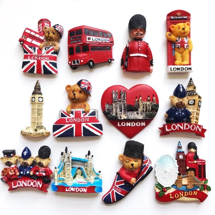 5 Pieces A Lot World Travel Souvenirs British