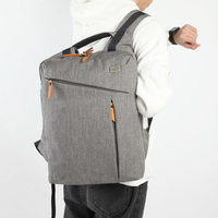 New Group Laptop Backpack Simple Patchwork Large Capacity Mens Backpack for Travel Casual Men Daypacks Leather Travle Backpack