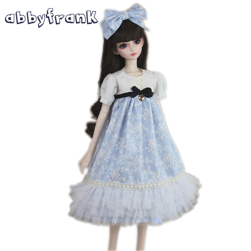 Abbyfrank 1/3 BJD Doll Accessories Dress Clothes 60cm Large BJD SD Doll Toy Princess Fairyland Bow Tie Long Western Style Skirt abbyfrank 1 pair acrylic eyes for toy sd bjd eye doll cartoon 14mm 16mm 18mm 1 3 1 4 1 6 for bjd doll accessories anime for doll