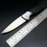 Caliente 111 rodamiento táctico cuchillo plegable 9Cr18Mov hoja de acero G10 mango de acero caza camping herramienta de mano supervivencia cuchillos