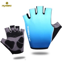 YKYWBIKE Cycling Gloves Men MTB Bike Mountain Bicycle Accessories Women Half Finger Glove Thick Gel Breathable Guantes Ciclismo